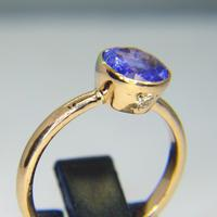 Hand Crafted 18ct Rose Gold 1.67ct Tanzanite and Diamonds Ring