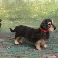Wire Haired Dachshund - Needle Felted Sculpture Commission
