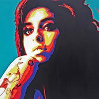 Amy Winehouse: Oil on box canvas, 50cm x 76cm, Price £300 ( sold) please let me know if you would like me to paint another perhaps with different colours!