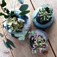 Pretty hand felted bowls can be made to order in the colours of your choice. Prices range from £15 to £40 depending on size.