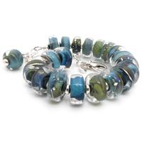 Oceana Glass and silver Bracelet