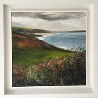 Woolacombe Bay Acrylic on canvas  65 x 65 cms including white frame £350