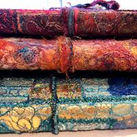 Richly Textured machine embroidered journal covers which are detachable £50.00