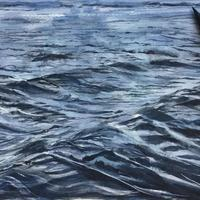 Deep blue sea. Watercolour