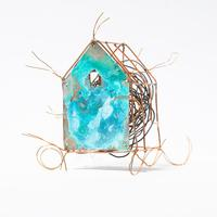 Covid House series - Nesting : copper, wire and found wire