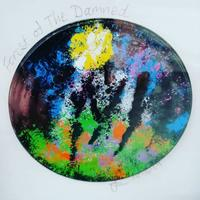 """""""Forest of the Damned"""" - Mixed media upcycled food can base, coloured with cold (acrylic) enamel powders."""