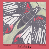 Big Billy Butterfly linocut