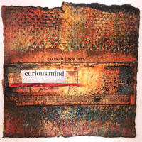 Curious Mind - mixed media collage on canvas