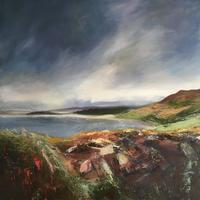 Rhossili Bay oil on canvas 60 x 60cms £450