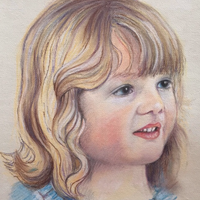 """Sophie"" Pastel and Graphite 10""x14"""