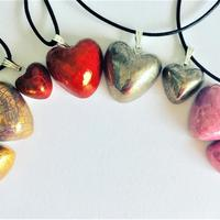 Selection of different coloured hearts. Smaller ones 1cm diameter, larger ones 2cm.