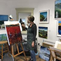 Here I am painting at East Lodge Gallery and studios, The LSA follow us on Facebook and Instagram