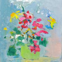 Abstract Flowers. Dandelions and Geraniums