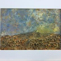 Abstract Landscape1 - 20cms a 28cms testured acrylic on paper in 30cms x 40cms mount