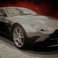 Aston Martin commission: Acrylic on box canvas, 76cm x 50cm (not for sale)