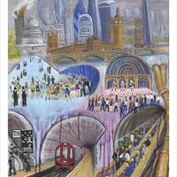 Painted in acrylic, 36''x 24''. I included many of London's most iconic buildings and scenes to try and capture the drama, diversity, excitement and, for some, the pain of living in our great capital city.