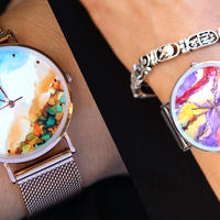 Designer watches with art face and gems