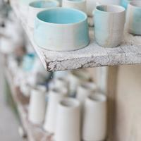 Porcelain and turquoise vessels