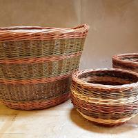 Variety of willow baskets