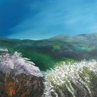 May is Out. Acrylic on canvas 65cms x 65cms including white frame £350