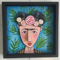 Quirky wooden Freida Kahlo
