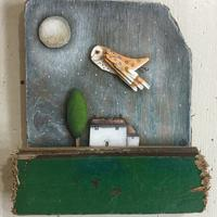 3D barn owl and cottage