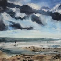 Clearing the Head - Selected for the Rugby Open Exhibition, 70cm by 70 cm (framed), £600
