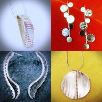 One-off designs in silver and vintage beads