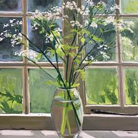 Cow Parsley in Window. Oil on canvas. 76cm x 60cm