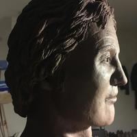 Bust of Alexander the Great, by Deirdre Nicholls. Created as the result of in-depth research into what he really looked like