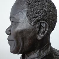 Bronze bust of Nelson Mandela, commissioned by Glasgow City Council
