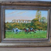 Racehorses at Stratford, sketched from life