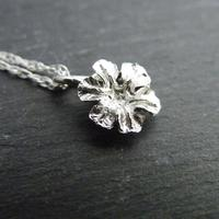 Poppy seed head flower pendant.  Cast from nature.