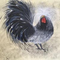 'Regal Rooster' - acrylics on canvas board