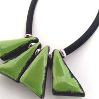 Green Triangles Necklace
