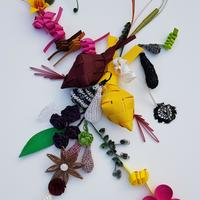 Jeff Ting's assemblage artwork called 'Heartbeats'
