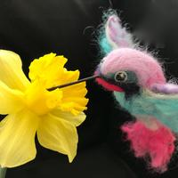 Hummingbird - Needle Felted Sculpture