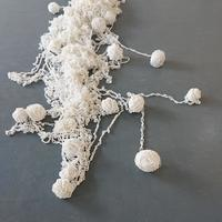 MMIRI MMIRI / FLUIDITY hand chained & knotted silicone cord and fishing line approx w 100 x l 300 x d 30 cm