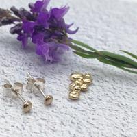Affordable handmade unisex 10 carat recycled gold minimalist stud earrings w/ sterling silver ear posts