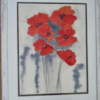 Simple Poppies   Watercolor  45 cm x 55 cm   Including frame     £110.00