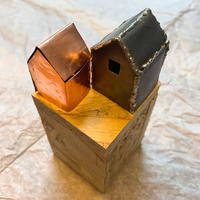 Lead House with Inner Soul; lead, solder and copper shim