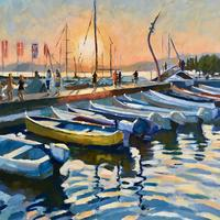 Bardolino sunset, Acrylic on canvas