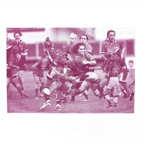 Print from a women's rugby game