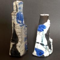Two Raku fired forms