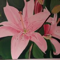 Lilies in acrylic