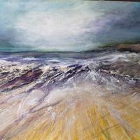 Acrylic abstract seascape