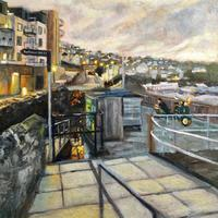 The back streets of St.Ives, Acrylic on canvas