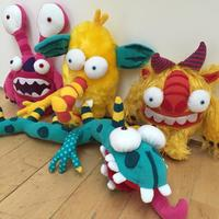 Monsters made for commission, for Greggs Lunchables.