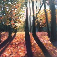Into the woods    58x50cm   Oil    £300