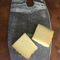 Black and white porcelain cheeseboard - cheese not included!